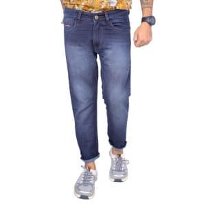 Mid blue slim fit jeans (1)