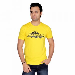 Batman Half Sleeve Yellow T-shirt