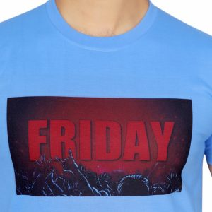 Friday Print Half Sleeve T-shirt